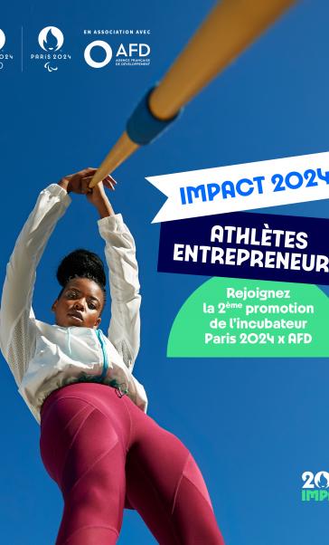 Postulez à l'incubateur de Paris 2024 et l'AFD dédié aux athlètes entrepreneurs